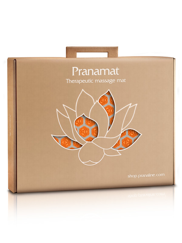 Pranamat ECO Pranamat ECO Natural & Orange + Bag - Gift Box