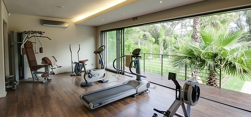 Home gym equipment for fitness exercises