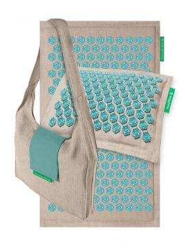 Pranamat + PranaPillow + Bag Natural & Turquoise images/products/pe+pp+bag-nt-full.jpg