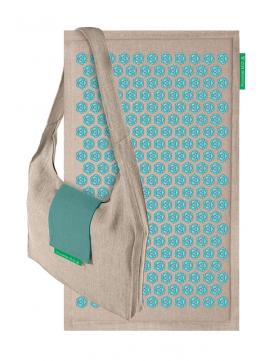 Pranamat ECO Natural & Turquoise + Bag